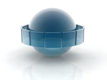 Cristal en la arena Imagen de archivo libre de regalías