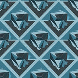 Cristal Fond 3D géométrique sans couture illustration libre de droits