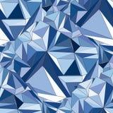 Cristal Fond 3D géométrique sans couture illustration stock