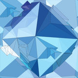 Cristal Fondo geométrico inconsútil 3D Imagen de archivo libre de regalías