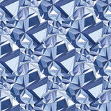 Cristal Fondo geométrico inconsútil 3D Fotografía de archivo