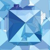 Cristal Fundo 3D geométrico sem emenda ilustração do vetor