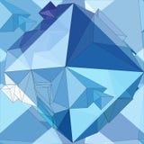 Cristal Fundo 3D geométrico sem emenda ilustração stock