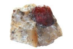 Cristal of garnet (almandine) Stock Image