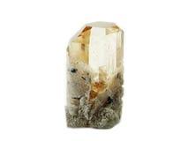 Cristal geológico de la gema del topacio Fotos de archivo libres de regalías
