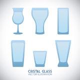 Cristal glass design Royalty Free Stock Photos