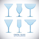 Cristal glass design Stock Photos