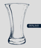 Cristal glass design Royalty Free Stock Photography