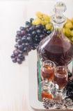 Cristal glasses and a carafe of liquor Stock Photo