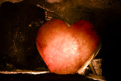 Cristal Heart. Heart made of cristal in the salt mines of Nemocón (Colombia Royalty Free Stock Photography