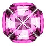 Cristal hermoso del diamante Fotografía de archivo