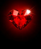 Cristal Heart Stock Photography