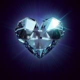 Cristal Heart Stock Photo