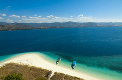 Cristal jasnego wody lagoone 17 wysp Riung Flores Indonezja Obraz Stock