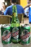 Cristal, la birra cubana immagini stock libere da diritti
