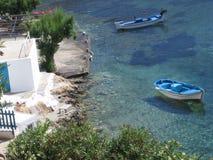 Cristal - mar grego desobstruído Imagem de Stock