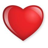 Cristal-mire el corazón Foto de archivo