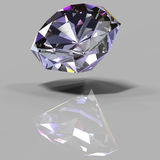 Cristal multicolore avec une réflexion illustration de vecteur