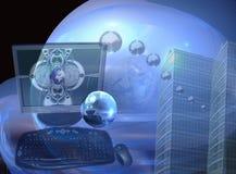 Cristal - negócio e sucesso desobstruídos Imagens de Stock