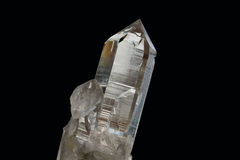 Cristal no fundo preto Imagem de Stock