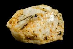 Cristal pálido del feldespato de la albita Foto de archivo libre de regalías