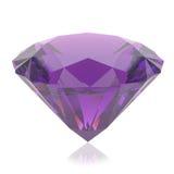 Cristal púrpura en un fondo blanco Imagen de archivo