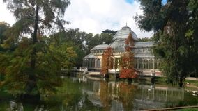 Cristal pałac, Madryt Obraz Stock