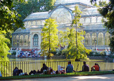 Cristal palace in summer Stock Photography