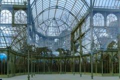 cristal palacio för de madrid Royaltyfria Bilder