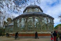 cristal palacio för de madrid Royaltyfri Foto