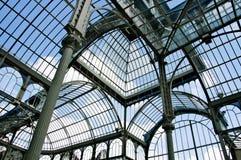 cristal palacio för de madrid Arkivbilder