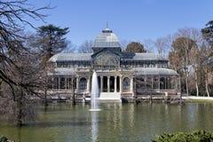 cristal retiro парка дворца madrid Стоковые Изображения RF