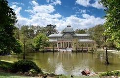 cristal retiro för madrid slottpark royaltyfria bilder
