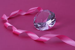 Cristal and ribbon. Stock Photo