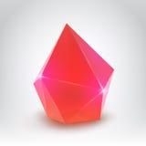 Cristal rojo Foto de archivo libre de regalías