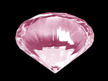 Cristal rosado del diamante (parte inferior) Fotos de archivo libres de regalías