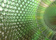 Cristal Tech Tunel Green Royalty Free Stock Image
