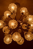 Cristal velho do candelabro Fotos de Stock