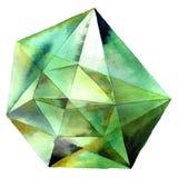 Cristal vert de diamant Photographie stock