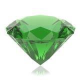 Cristal vert sur un fond blanc Photographie stock