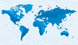 Cristal world map Stock Photos