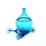 Cristalería azul Foto de archivo libre de regalías