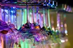 Cristalería coloreada Foto de archivo libre de regalías