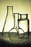 Cristalería de la química Foto de archivo