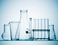 Cristalería de la química Imagen de archivo libre de regalías