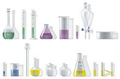 Cristalería de la química ilustración del vector