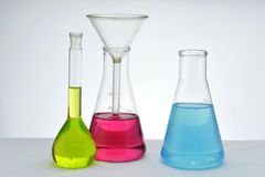 Cristalería de la química fotos de archivo