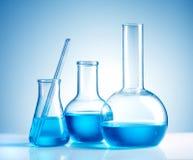 Cristalería de laboratorio Imagen de archivo