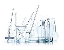 Cristalería de laboratorio Fotos de archivo