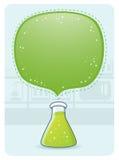Cristalería de laboratorio con una burbuja grande Fotos de archivo